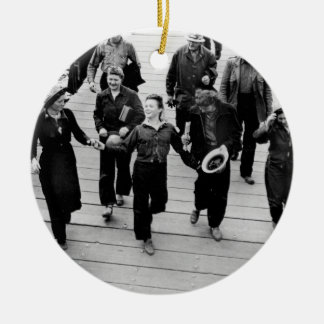 Rosie the Riveters on the Boardwalk Christmas Tree Ornaments