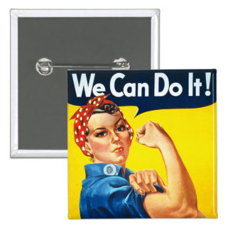 Rosie the Rivetter Pinback Button