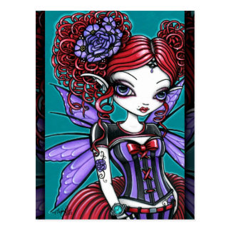 Rosie Twinkle Pixie Rose Tattoo Fairy Postcard