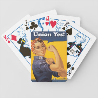 Rosie Union Yes! Election Bicycle Playing Cards
