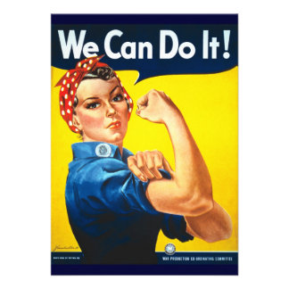 Rosie Vintage we can do it Personalized Invite