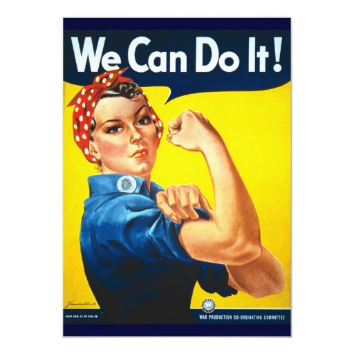 Rosie Vintage we can do it! 5x7 Paper Invitation Card | Zazzle