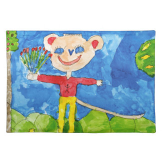 Rosie with Roses Cloth Placemat