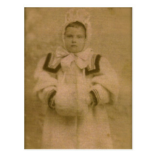 Rosie ZARFOS, alista para la nieve, circa 1895 Postales