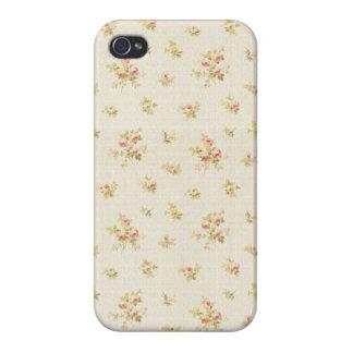 Rosilinde: Pink Damask Lace Print iPhone 4 Case