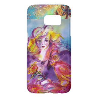 ROSINA /Young Girl with Rose and Parrot Samsung Galaxy S7 Case