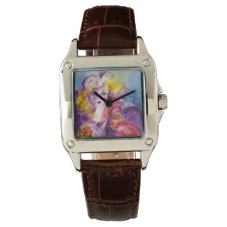 ROSINA /Young Girl with Rose and Parrot Wristwatch