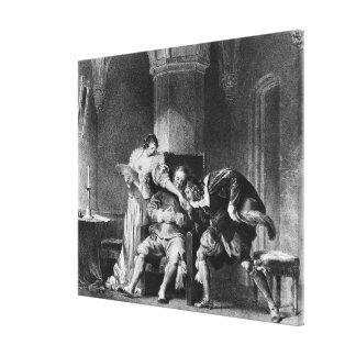 Rosine, Bartholo, cuenta Almaviva Lienzo Envuelto Para Galerias