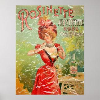 Rosinette 1823- distressed poster