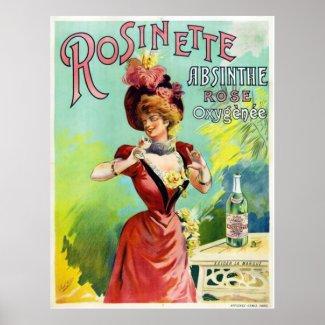 Rosinette Absinthe Poster print