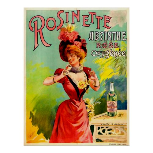 Rosinette Absinthe Rose Oxygénée posters
