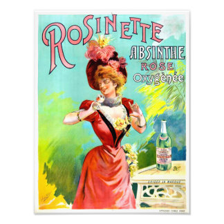 Rosinette Absinthe Vintage Advertisement Poster Photograph