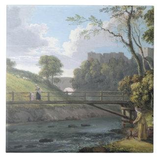 Roslin Castle, Midlothian (w/c and gouache on pape Tile