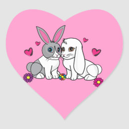 Ross and Curia from Penguin Corner Heart Sticker