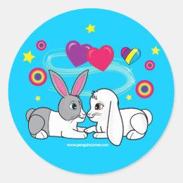 Ross and Curia in love Classic Round Sticker