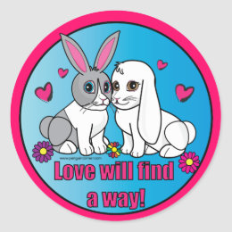Ross and Curia: Love Will Find a Way! Classic Round Sticker