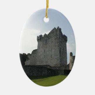 Ross Castle, Killarney, Ireland Ceramic Ornament