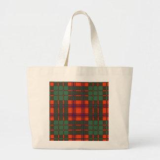 Ross clan Plaid Scottish tartan Large Tote Bag