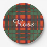 Ross clan Plaid Scottish tartan Paper Plate
