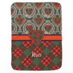 Ross clan Plaid Scottish tartan Receiving Blanket