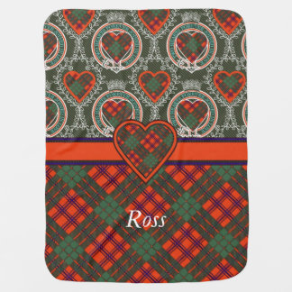Ross clan Plaid Scottish tartan Receiving Blanket