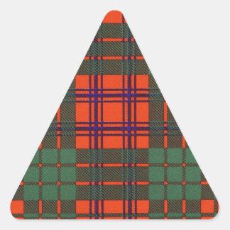 Ross clan Plaid Scottish tartan Triangle Sticker
