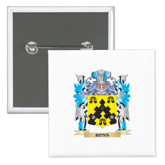 Ross- Coat of Arms - Family Crest Pinback Button