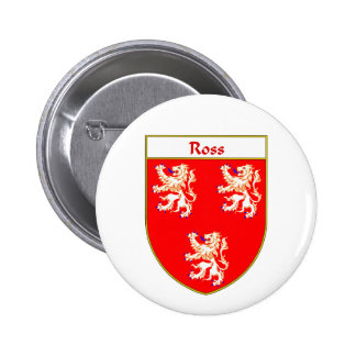 Ross Coat of Arms/Family Crest Pinback Buttons