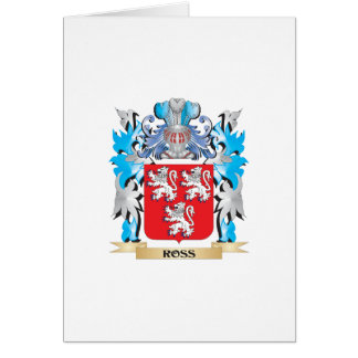 Ross Coat of Arms - Family Crest Greeting Card