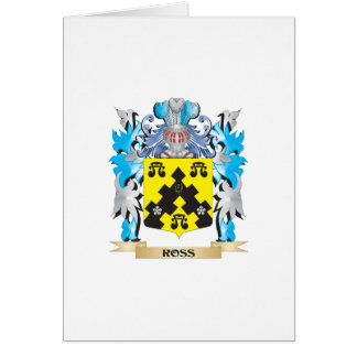 Ross- Coat of Arms - Family Crest Greeting Card