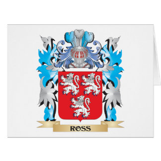 Ross Coat of Arms - Family Crest Large Greeting Card