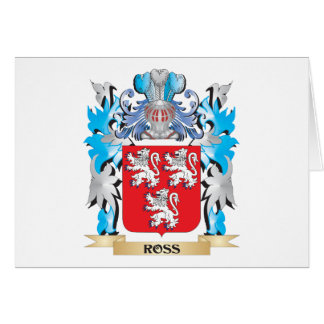 Ross Coat of Arms - Family Crest Stationery Note Card