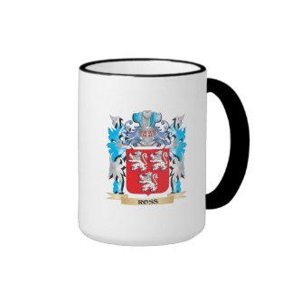 Ross Coat of Arms - Family Crest Ringer Coffee Mug
