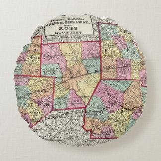 Ross Counties Round Pillow