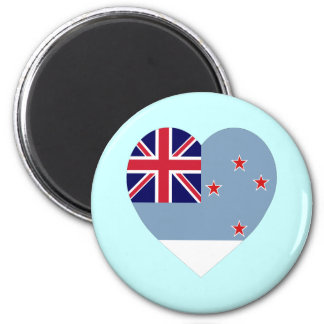 Ross Dependency Flag Heart 2 Inch Round Magnet
