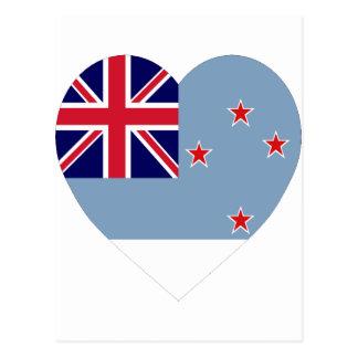 Ross Dependency Flag Heart Postcard