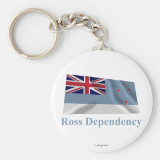 Ross Dependency Waving Flag with Name Key Chains