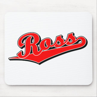 Ross en rojo alfombrillas de ratones
