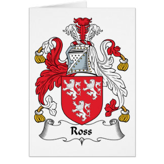 Ross Family Crest Greeting Card