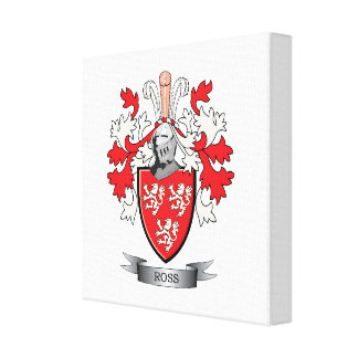 Ross Family Crest Coat of Arms Canvas Print