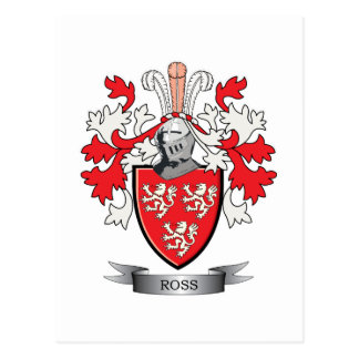 Ross Family Crest Coat of Arms Postcard