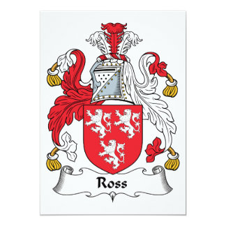 Ross Family Crest 5x7 Paper Invitation Card