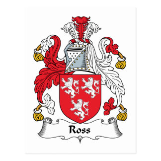 Ross Family Crest Postcard