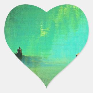 ross-lake-553 pegatina en forma de corazón