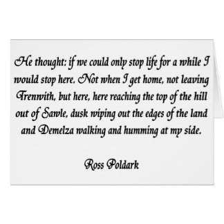 Ross Poldark Card
