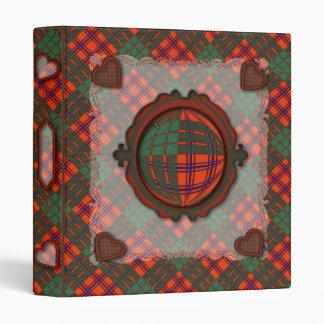 Ross Scottish clan tartan Vinyl Binder