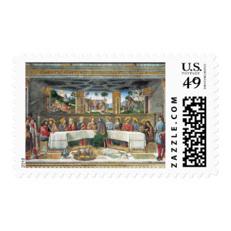 Rosselli's Sistine Chapel Last Supper Stamp
