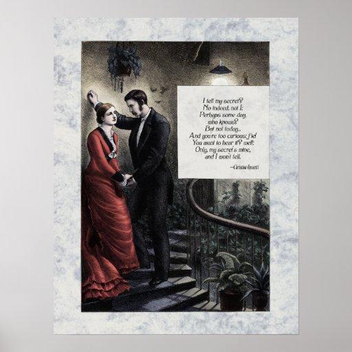 """Rossetti """"mi"""" poster secreto del arte del Victoria"""