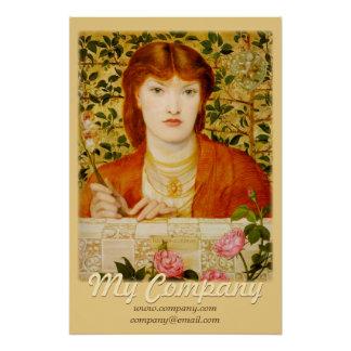 Rossetti Regina Cordium CC0650 Advertising Poster Perfect Poster