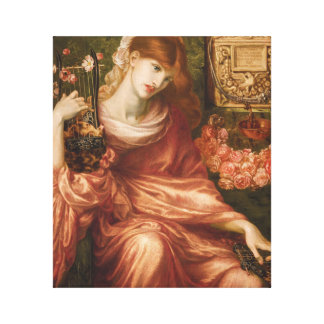 Rossetti Roman Harp Player Stretched Canvas Print